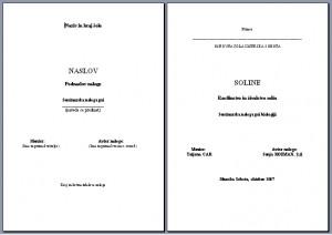 naslovna stran seminarske